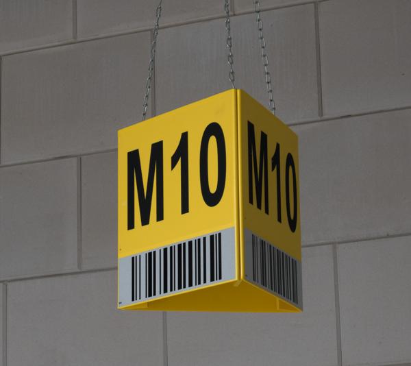 ONE2ID Schilder mit reflektierendem Barcode