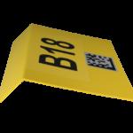 ONE2ID Standortschild mit Data-Matrix Code