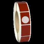 ONE2ID Typenschild für Produkte Raised label rot