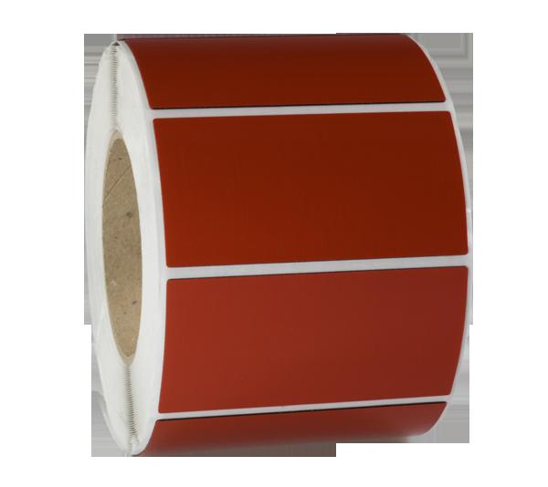 ONE2ID Typenschild rot für Geräte und Maschinen Raised Label