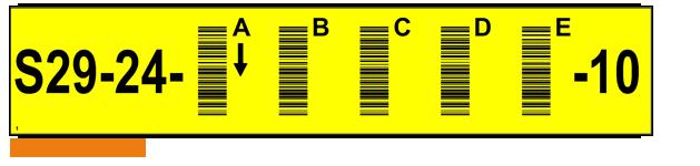ONE2ID Vertikaler Barcode Lagerregaletiketten