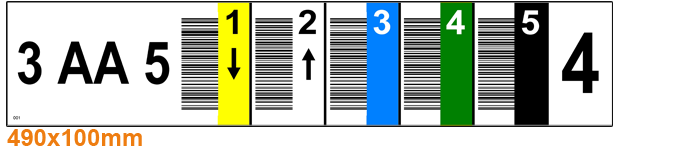 ONE2ID Vertikaler Barcode Regaletiketten