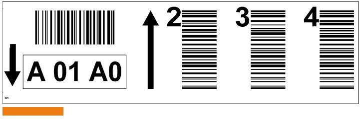 ONE2ID Weiße Barcode-Etiketten für Palettenregale