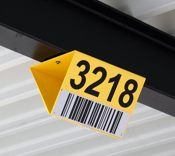 ONE2ID Barcodeschilder Long-Range-Scannen Blocklagerschilder mit Magneten