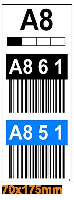 ONE2ID Lagerplatz-Etiketten Regaldurchfahrten mit Barcode