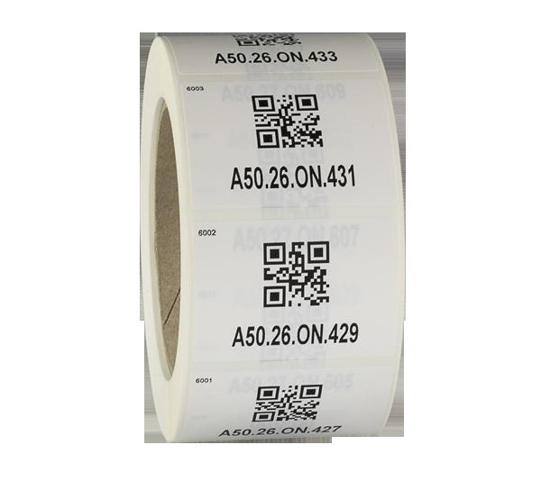 ONE2ID Barcode-Etiketten Inventar Aufkleber Polyethylen TAGS