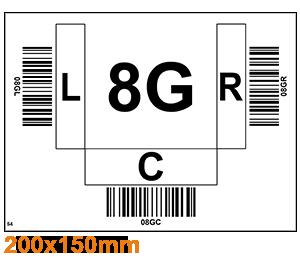 ONE2ID Barcode-Etiketten PutWall Batch-Kommissionierung
