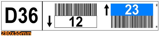 ONE2Id Multilevel Lagerplatz Etiketten mit Farbcodierung