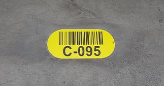 ONE2ID Bodenkennzeichnung Lagerschilder Bodenmarkierung