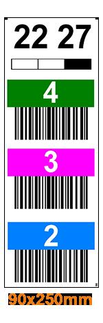 ONE2ID Lagerplatz-Etiketten Hochregallager mit Durchgänge Fern-Scannen
