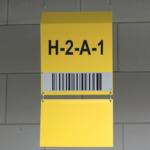 ONE2ID Lagerschilder Blocklager Fern-scannen long range