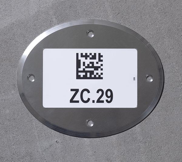 ONE2ID Bodenrahmen für den Außenbereich Bodenkennzeichnung