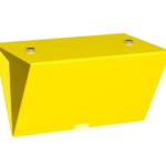 ONE2ID Lagerschild Bulk-Ware V-Schild doppelseitig mit Magneten