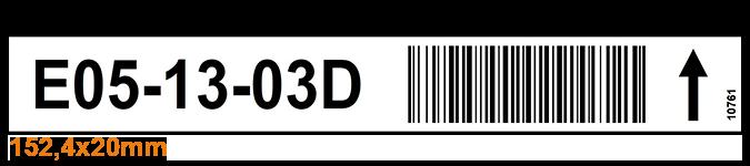 ONE2ID Lagerplatz-Etiketten Fachboden-Etiketten Stellplatz-Etiketten