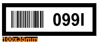 ONE2ID Etiketten mit Strichcode Fachbodenregale