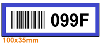ONE2ID Farbcodierung und Barcode Regaletiketten