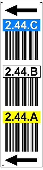 ONE2ID Regaldurchfahrte Lageretiketten Barcode-Etiketten ONE2ID